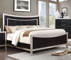 Furniture of America CM7264EK Liza Contemporary Silver Finish King Bed