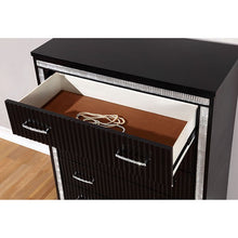 Load image into Gallery viewer, Furniture of America CM7886N Alver Contemporary Black Nightstand