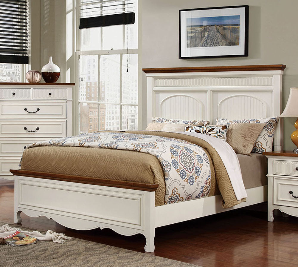 Galesburg CM7040CK Contemporary White Oak Finish King Platform Bed