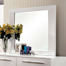 Load image into Gallery viewer, Clementine CM7201D CM7201M Contemporary White Dresser and Mirror Set