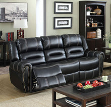 Load image into Gallery viewer, Frederick CM6130-SF Contemporary Black Leatherette Recliner Sofa
