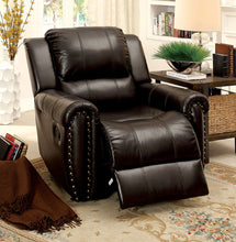 Load image into Gallery viewer, Furniture of America Foxboro Brown Manual Recliner
