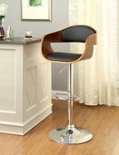 Load image into Gallery viewer, Furniture of America CM-BR6236 Boxil Dark Oak Swivel Bar Stool