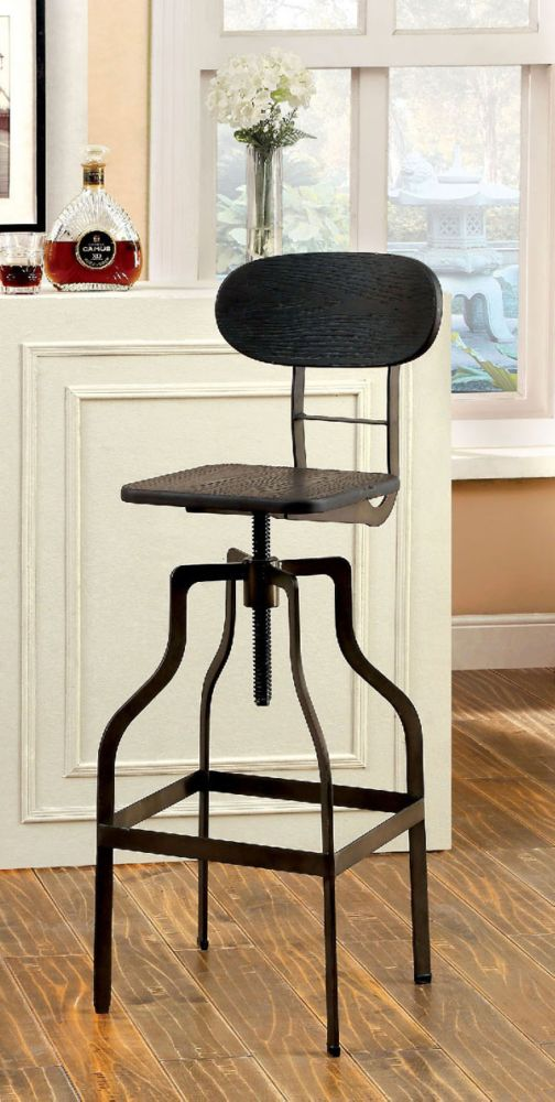 Leith CM-BR6233DK Dark Brown Bamboo Bar Stools Set of 2