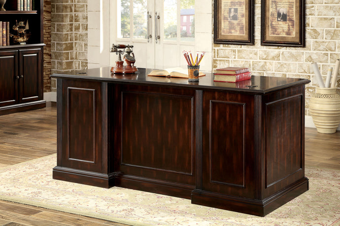 Furniture of America CM-DK6208D-SET Coolidge Cherry Finish Office Desk