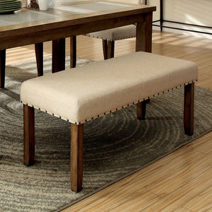 Melston I CM3531BN Transitional Natural Tone Finish Dining Bench