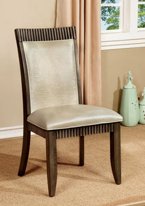 Forbes I CM3435SC Transitional Gray Finish Side Chair Set of 2