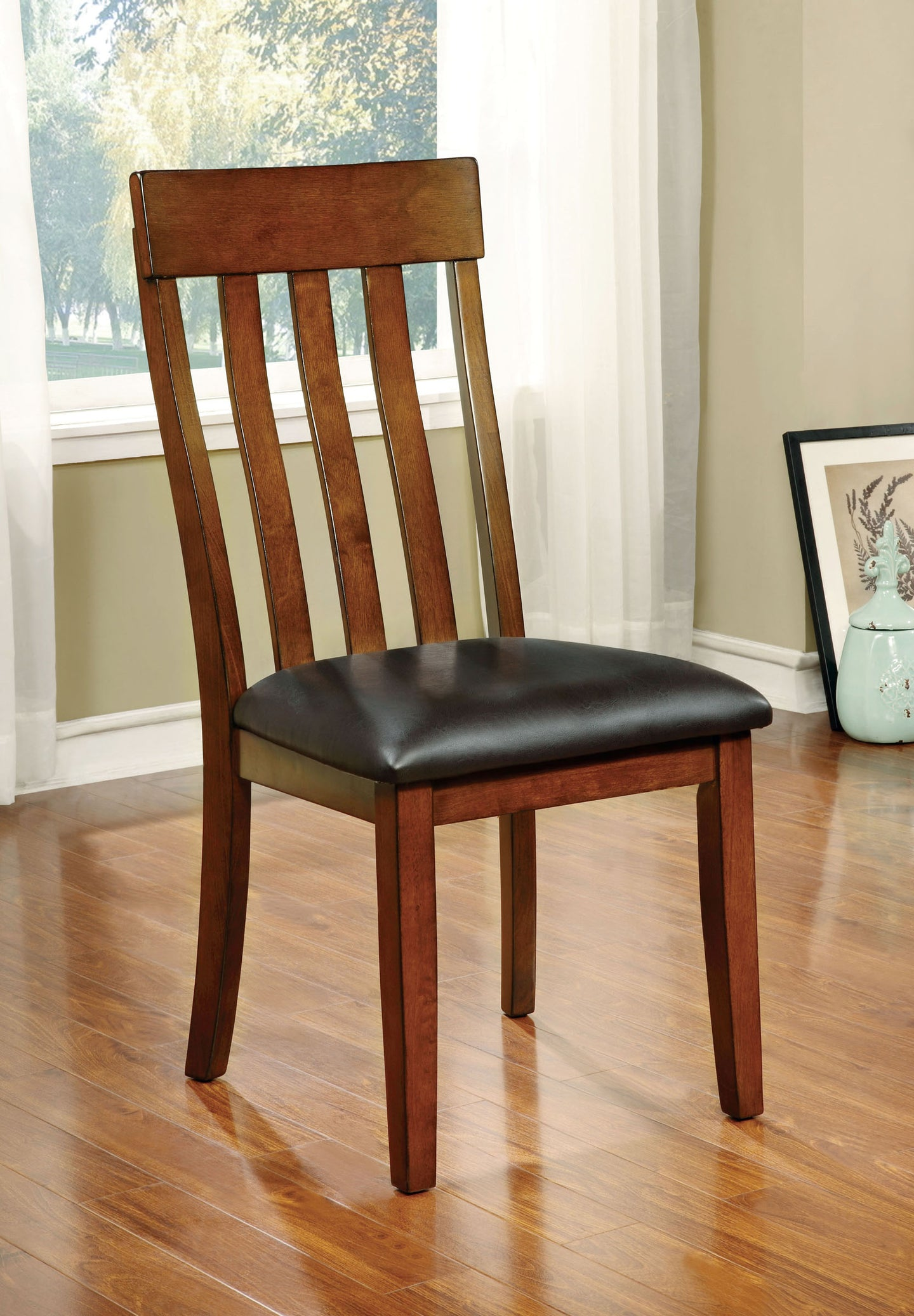 Foxville CM3914SC Transitional Cherry Finish Side Chairs Set of 2