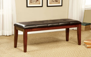 Furniture of America CM3914BN Foxville Cherry Finish Dining Bench