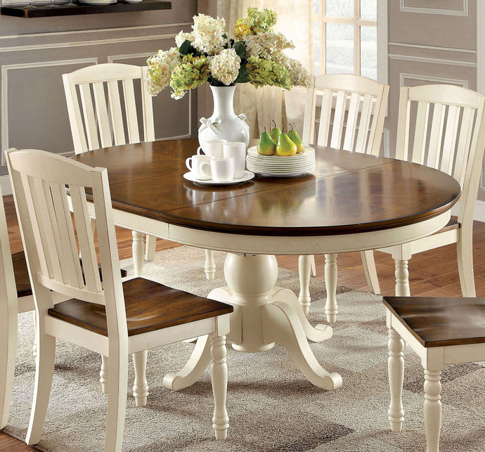 Harrisburg CM3216OT Cottage Style Two Tone Wood Oval Dining Table