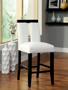 Luminar CM3559PC Contemporary Espresso Counter Height Chairs Set of 2