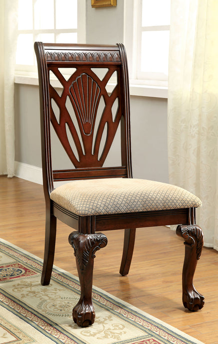 Furniture of America Petersburg I Traditional Cherry Side Chairs Set of 2