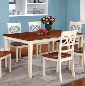 Torrington CM3552WC-T Transitional Vintage White Cherry Dining Table