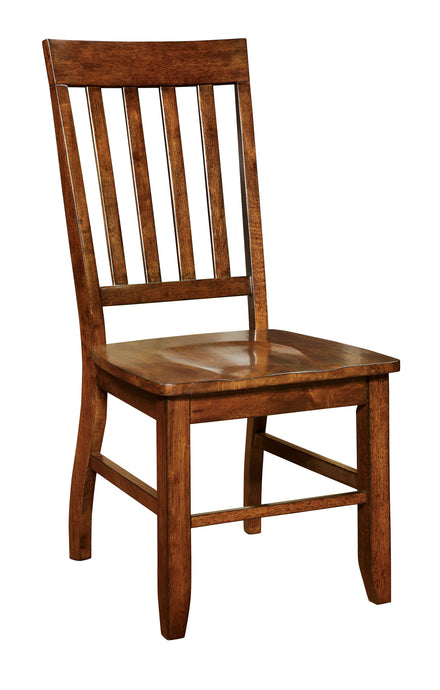 Foster I CM3437SC Transitional Dark Oak Finish Side Chair Set of 2