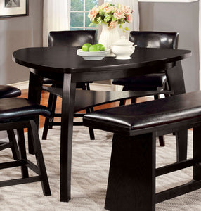 Hurley CM3433PT Modern Black Wood Triangular Counter Height Table