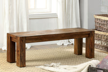 Load image into Gallery viewer, Frontier CM3603BN Transitional Dark Oak Finish Bold Wood Dining Bench