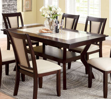 Load image into Gallery viewer, Brent CM3984T Transitional Dark Cherry Finish Dining Table