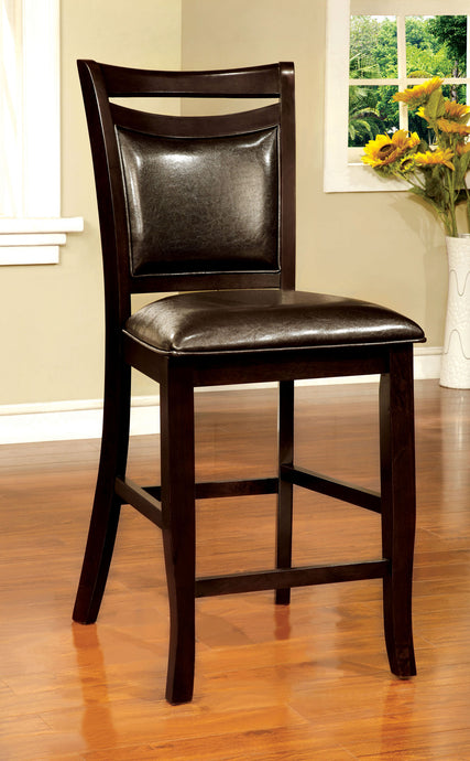 Woodside II CM3024PC Espresso Finish Counter Height Chair Set of 2