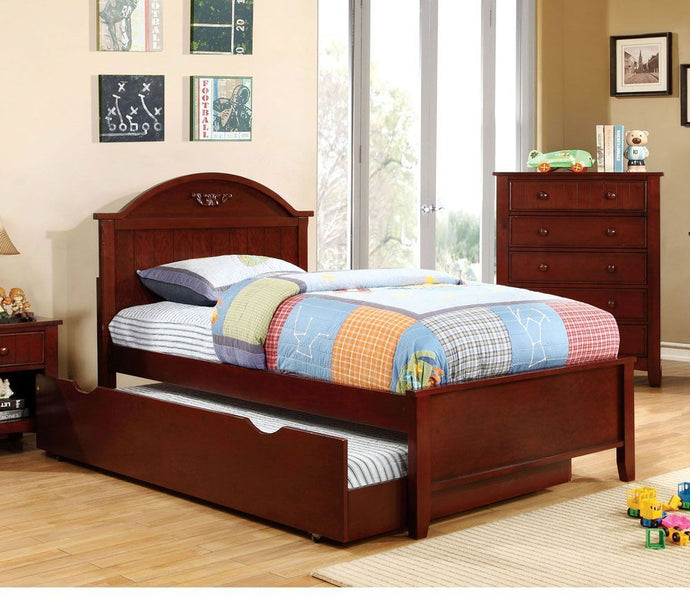 Medina CM7942CH-T Cherry Wood Kids Twin Trundle Bed