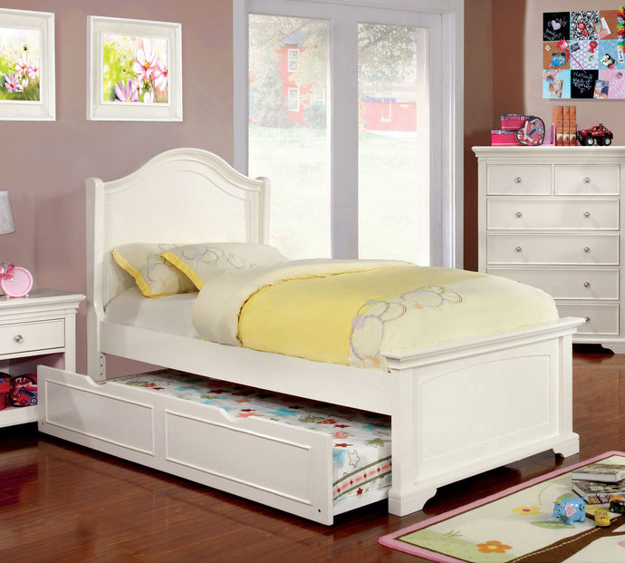 Mullan CM7943F White Wood Low Footboard Full Trundle Bed