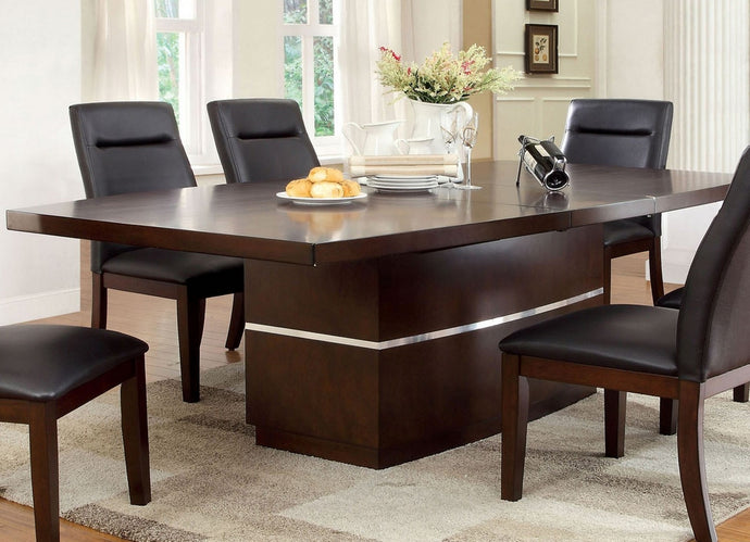 Lawrence CM3130T Contemporary Dark Cherry LED Light Dining Table