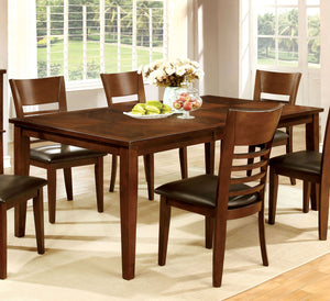 Furniture of America Hillsview Transitional Brown Cherry Dining Table