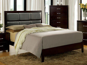 Janine CM7868CK Transitional Espresso Finish California King Bed