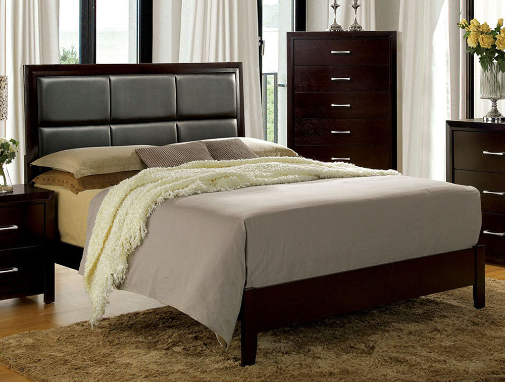 Janine CM7868EK Transitional Espresso Finish Eastern King Bed