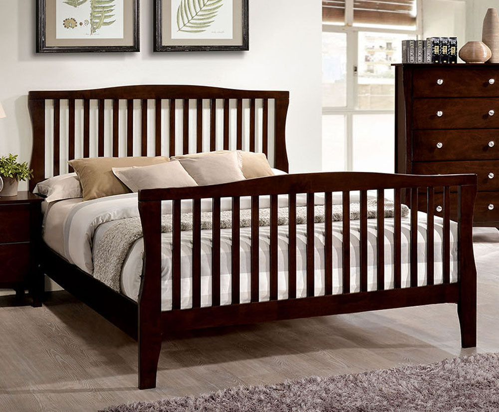 Riggins CM7070CK Contemporary Brown Cherry Finish California King Bed