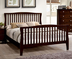 Riggins CM7070EK Contemporary Brown Cherry Finish Eastern King Bed