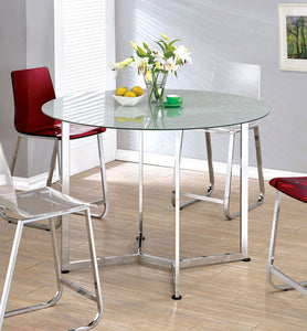 Yvetti CM3991PT Contemporary Chrome Round Counter Height Table