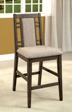 Load image into Gallery viewer, Eris II Transitional Weathered Gray Counter Height Chair Set of 2