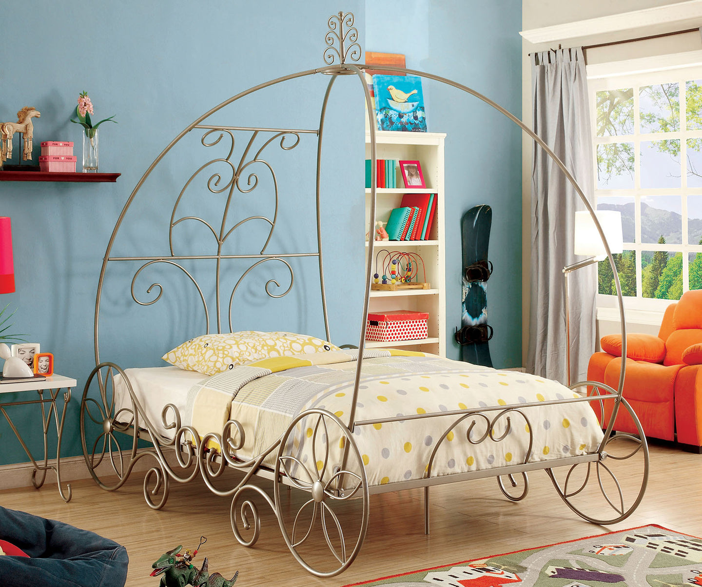 Enchant CM7705CPN-T Transitional Champagne Metal Twin Bed