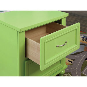 Lacey CM7322AG-N Contemporary Apple Green Nightstand
