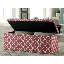 Load image into Gallery viewer, Zaira I CM-BN6033RD Contemporary Red Fabric Storage Ottoman