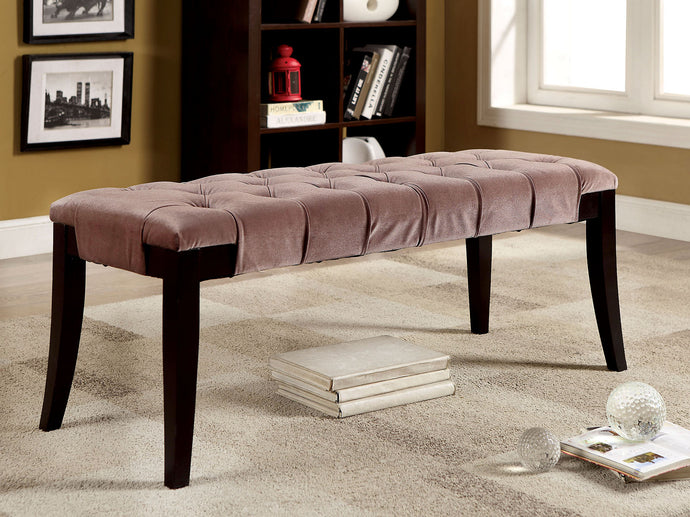 Milany CM-BN6201BR Contemporary Brown Flannelette Bench