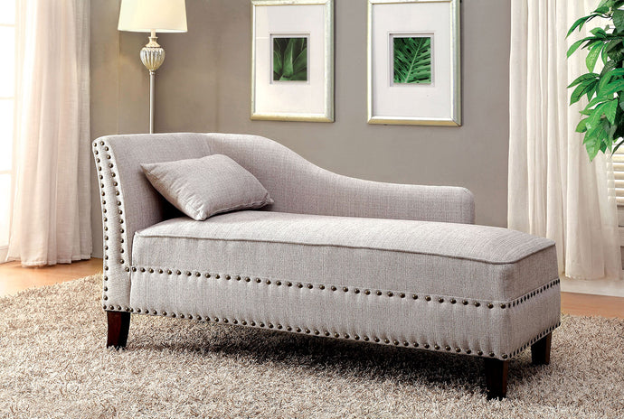 Stillwater CM-CE2185BG Contemporary Beige Linen-like Fabric Chaise
