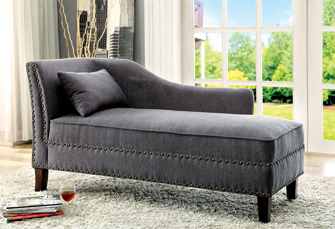 Stillwater CM-CE2185GY Contemporary Gray Linen-like Fabric Chaise