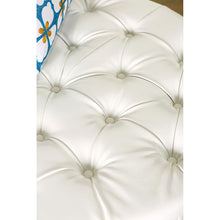 Load image into Gallery viewer, Latoya CM-AC6289WH White Bonded Leather Match Round Ottoman