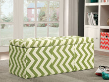 Load image into Gallery viewer, Zahra I CM-BN6031GR Contemporary Green Fabric Storage Ottoman