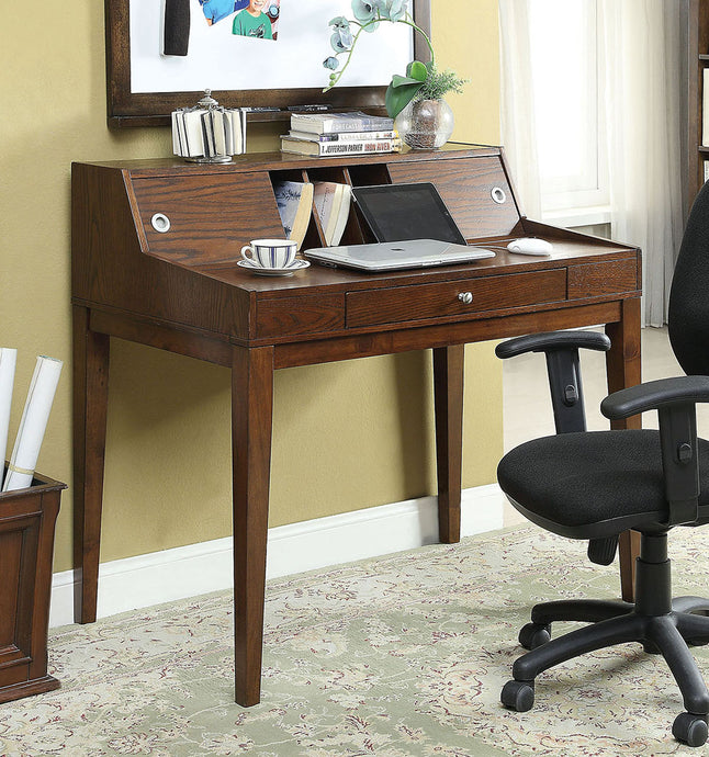 Furniture of America CM-DK6035 Veda Transitional Cherry Finish Desk
