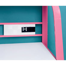 Load image into Gallery viewer, Power Racer II CM7261PK-DK Contemporary Pink Metal Desk with Stool