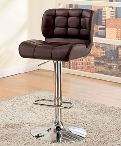 Kori CM-BR6152BR Contemporary Brown Leatherette Bar Chair
