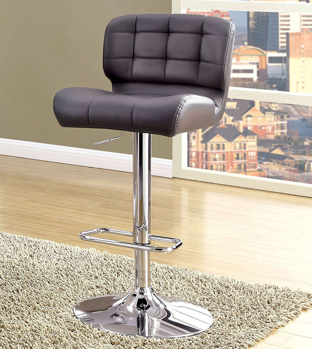 Kori CM-BR6152GY Contemporary Gray Leatherette Bar Chair