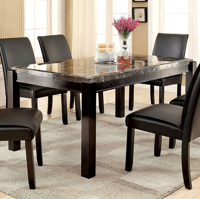 Gladstone I CM3823BK-T Contemporary Black Marble Top Dining Table