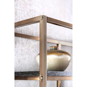 Elvira CM-AC6264CPN Contemporary Champagne Metal Display Shelf