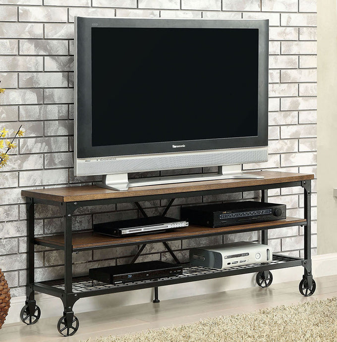 Ventura II CM5278-TV-54 Industrial Medium Oak Finish Metal 54