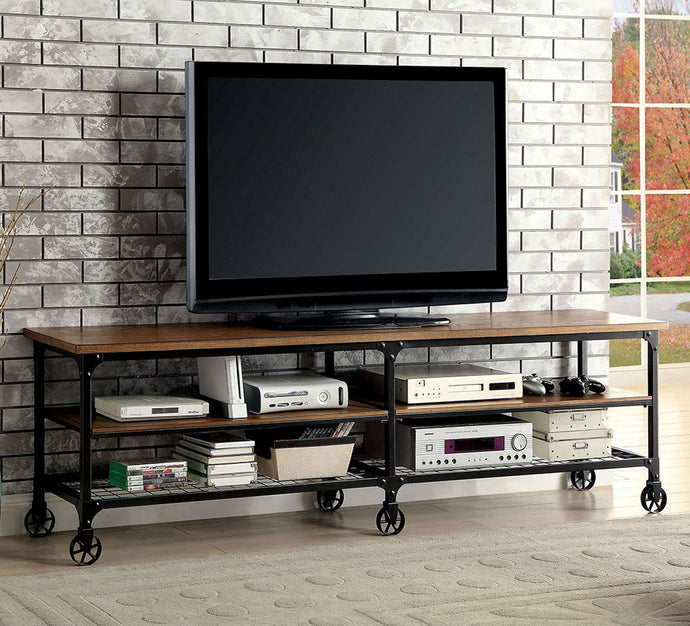 Ventura II CM5278-TV-72 Industrial Medium Oak Finish Metal 72