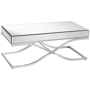Sundance CM4230CRM-C Contemporary Chrome Finish Metal Coffee Table