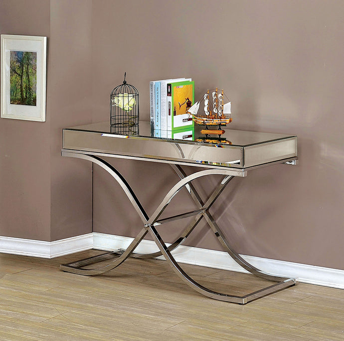 Sundance CM4230CRM-S Contemporary Chrome Finish Metal Sofa Table